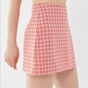 urban outfitters pink mini skirt